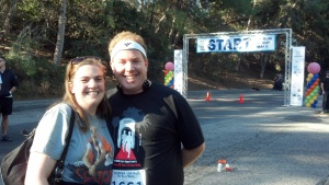 With my wife at the Start line!
