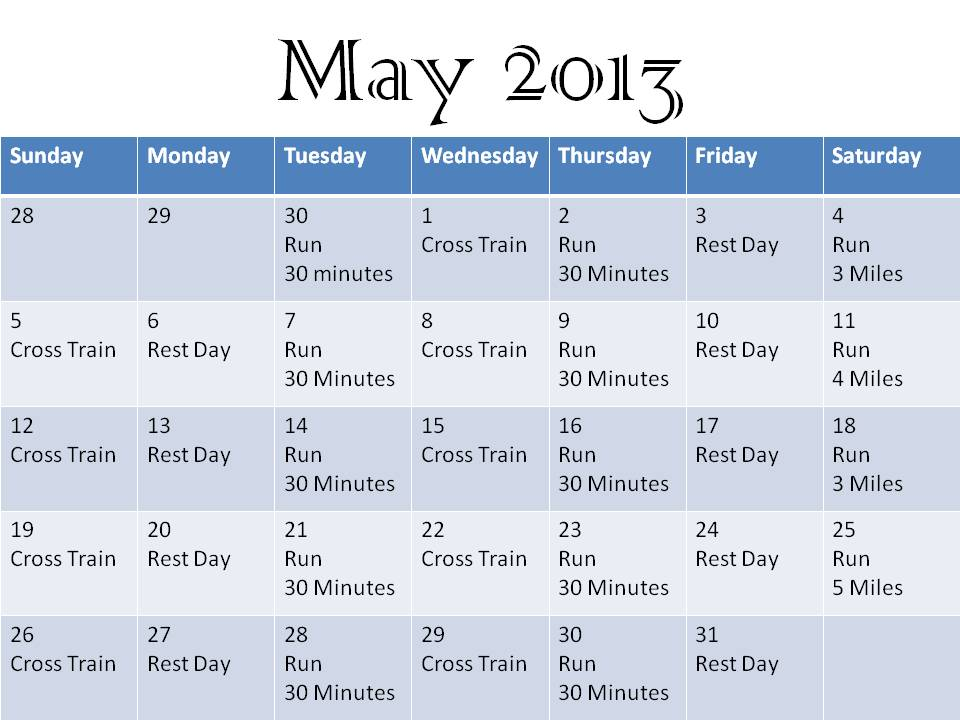 how to train for a half marathon in a month