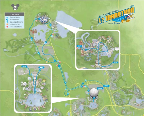 Walt Disney World Half Marathon Course