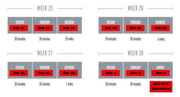 NYC Marathon Training Plan 5