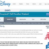 Changes to the runDisney Package Pick Up Policy starting at the Disneyland Half Marathon Weekend