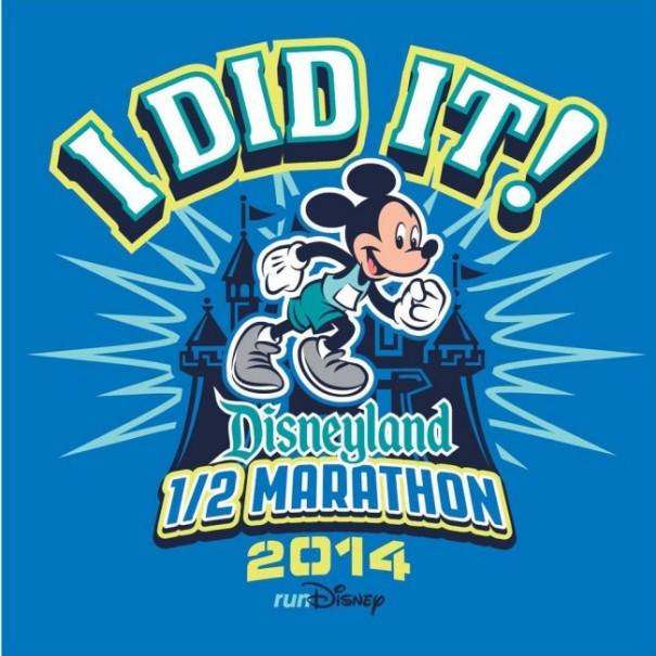 Disneyland Half Marathon I Did It Shirt