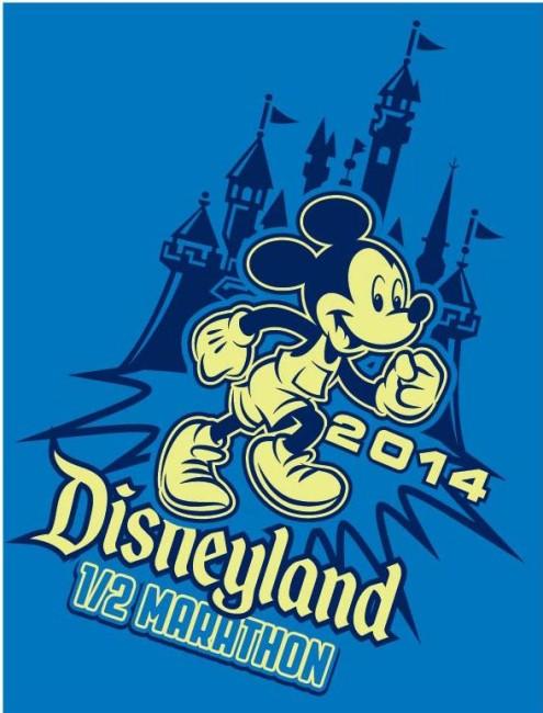 Disneyland Half Marathon Mickey Blue
