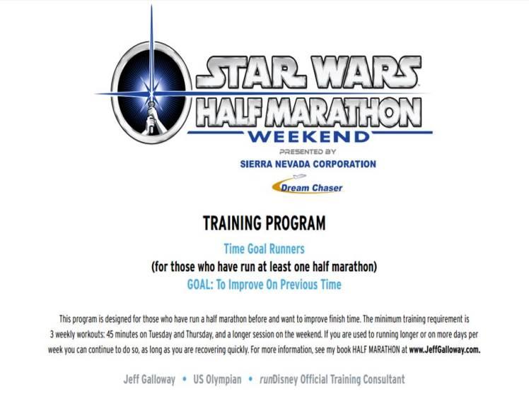 Star Wars Half Training Slide