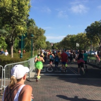 Avengers Super Heroes Half Marathon Route - Angels Stadium to the Finish