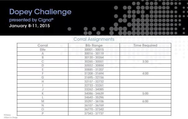 WDW Dopey Challenge Corrals