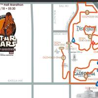 First Look at the Star Wars Half Marathon Route - Start through the Theme Parks