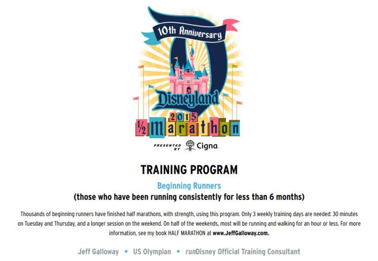 Disneyland Half Marathon Training Program