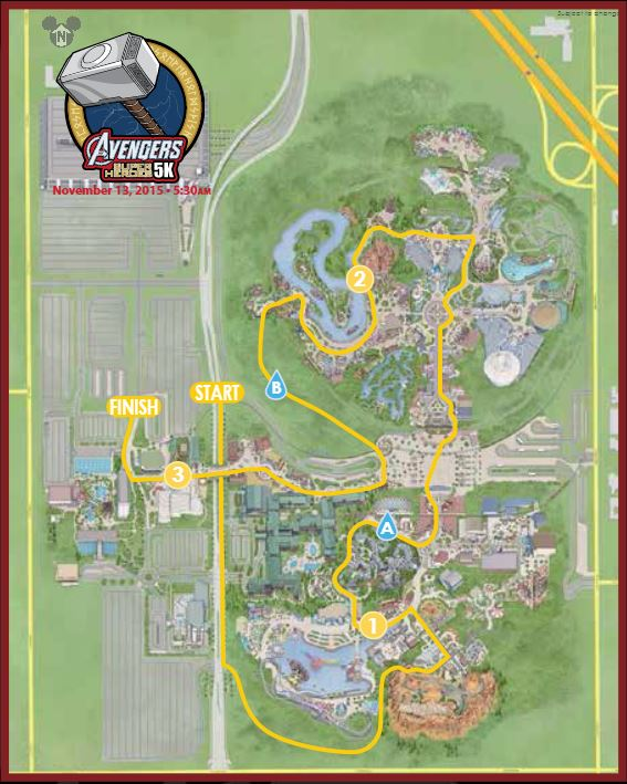 Avengers Guide 5K Map Large