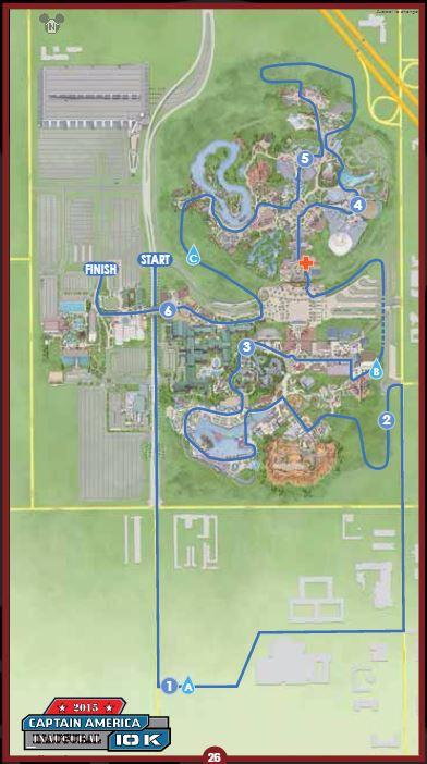 Avengers Guide Captain America 10K Map Large