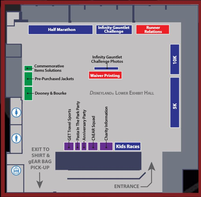 Avengers Guide Expo Lower Level Map Large