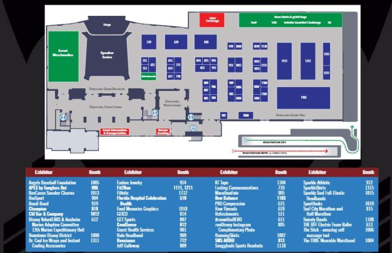 Avengers Guide Expo Upper Level Map