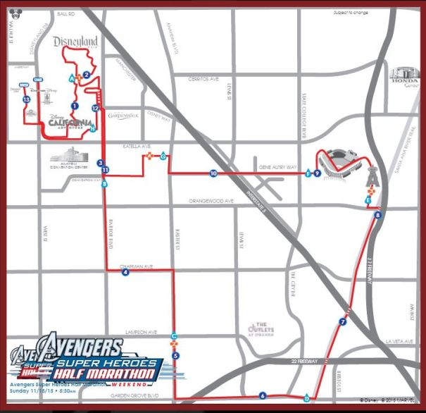 Avengers Guide Half Marathon Map Large