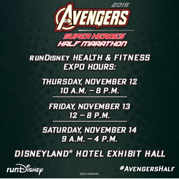 Avengers Expo Hours