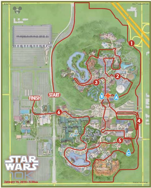 Star Wars 10K Map