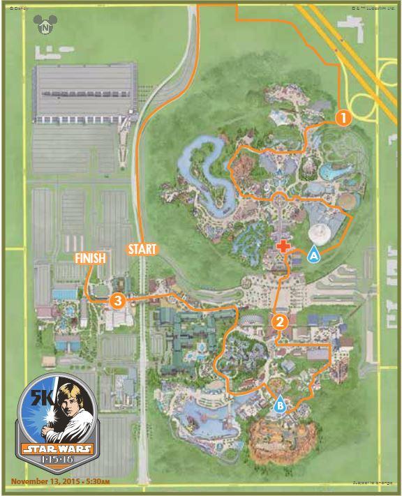 Star Wars 5K Map