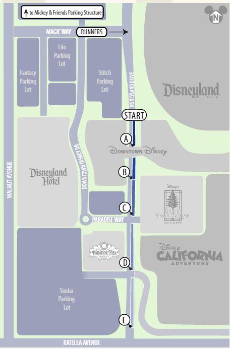 Star Wars Half Marathon Corral Map