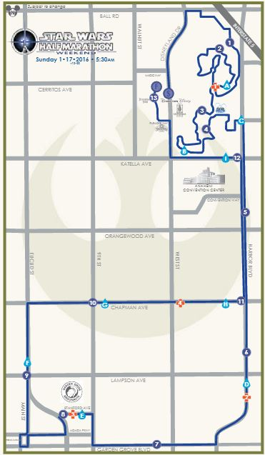 Star Wars Half Marathon Map