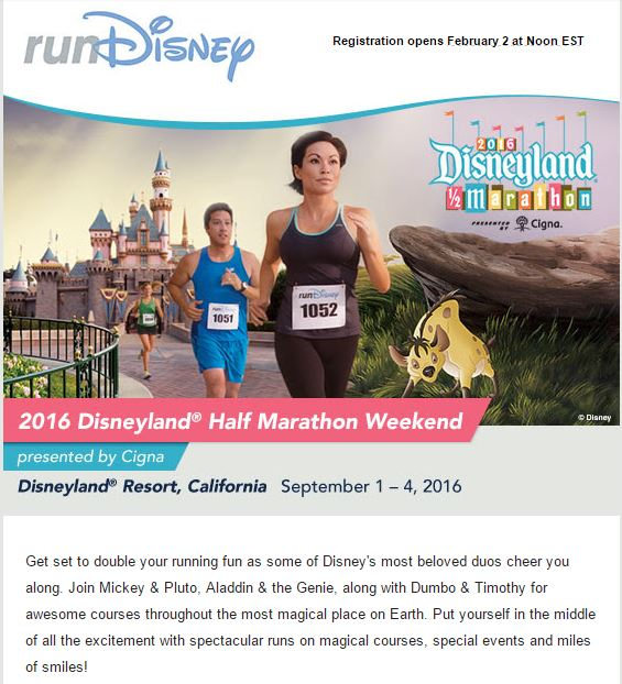 Disneyland Half Marathon Registration 01