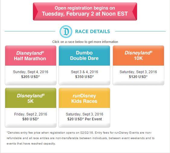 Disneyland Half Marathon Registration 02