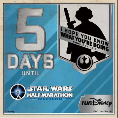 Star Wars Half Marathon Countdown 5 Days