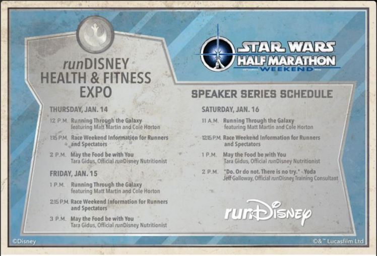 Star Wars Half Marathon Expo Speakers
