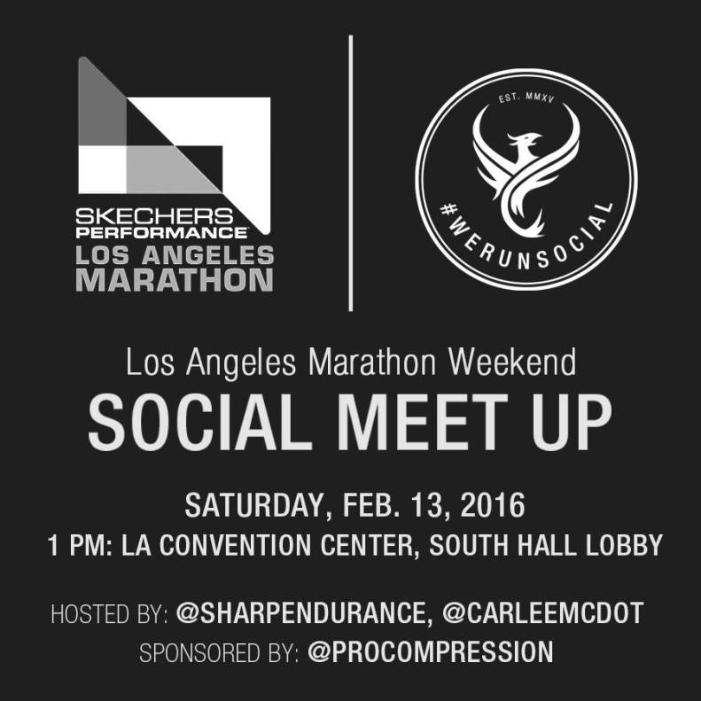 We Run Social Los Angeles Marathon Meet Up