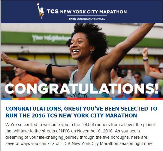NYC Matathon Im In