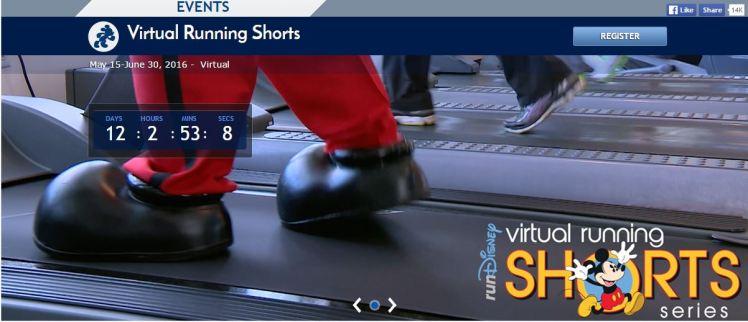 Run DIsney Virtual Running Shorts Series