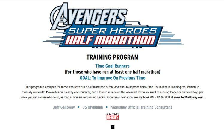 2016 Avengers Half Training Program 01