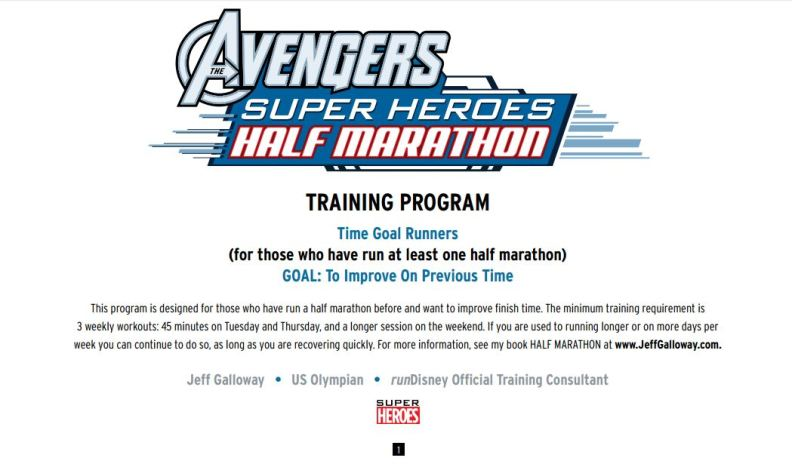 2016 Avengers Half Training Program 01
