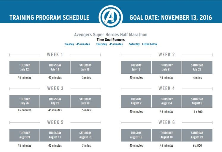 2016 Avengers Half Training Program 02