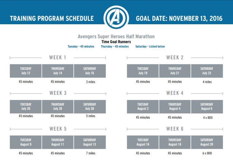 2016 Avengers Half Training Program 02