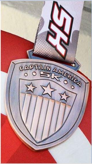 2016 Captain America 5K Medal