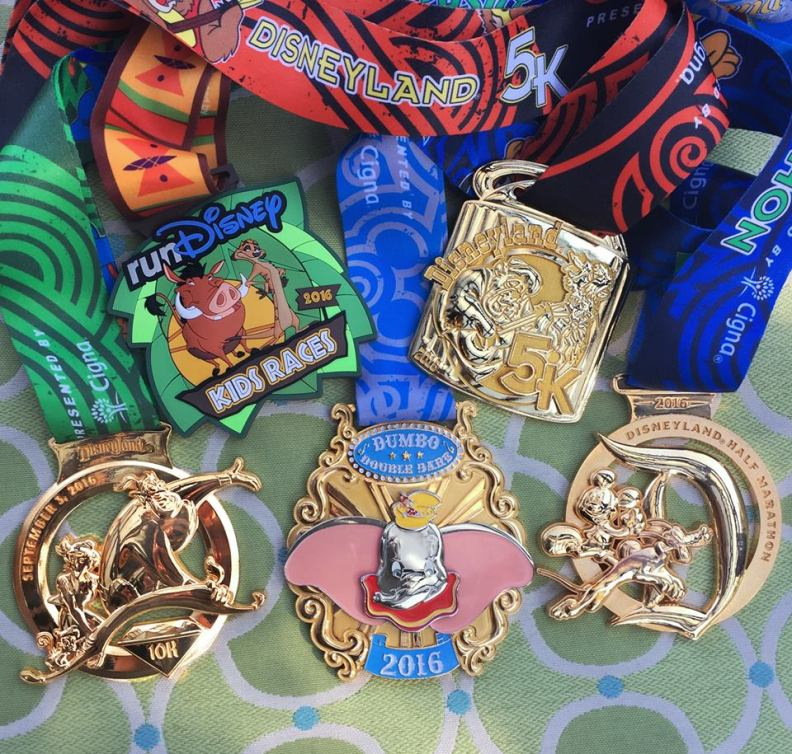 2016 DL Half Marathon Weekend Medals