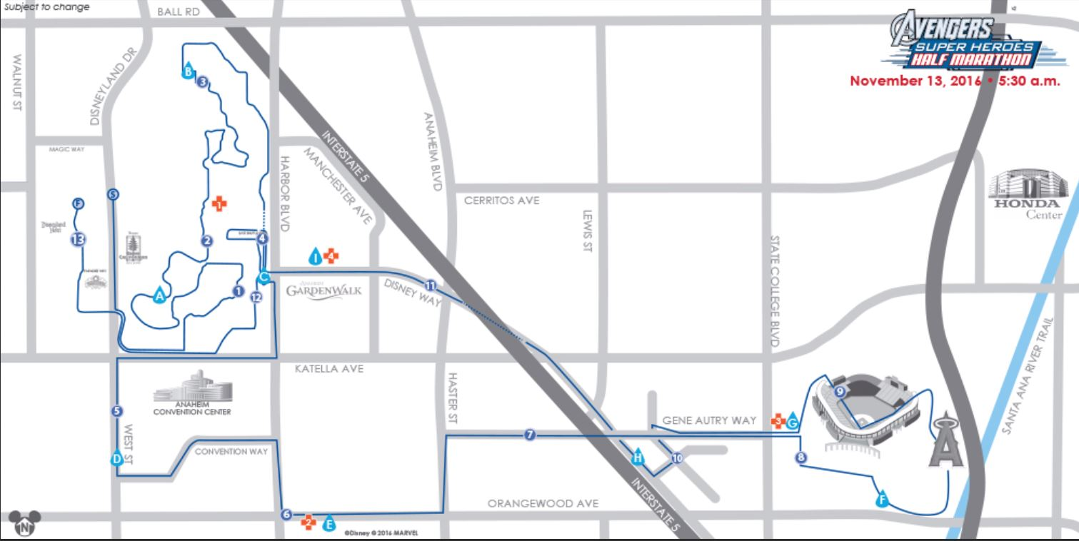 Avengers Super Heroes Half Marathon Event Guide Highlights - Chicago marathon map